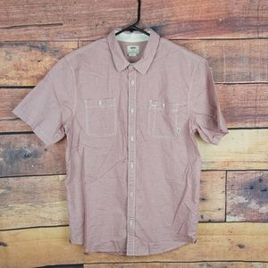 Vans short sleeve button down shirt 100% cotton